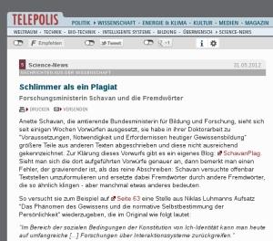 Telepolis-Schavan